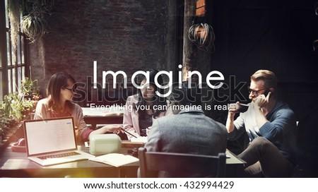 Imagine Imagination Ideas Creative Think Concept - stock photo