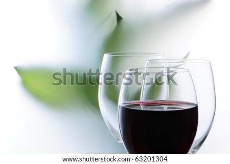 Imaging wine - stock photo
