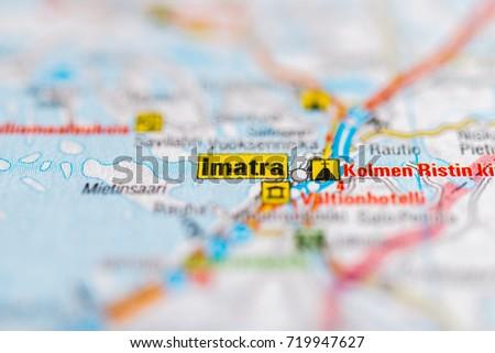 Imatra On Map Stock Photo 719947627 Shutterstock