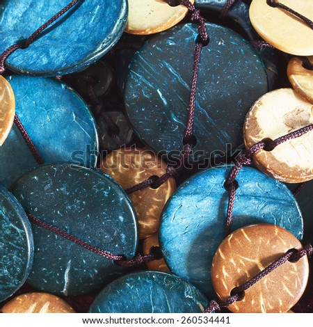 Imitation jewelry details, materials and design preview.  - stock photo