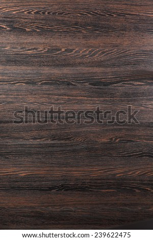 Imitation wood  / dark brown wood texture, pattern for furniture industry  - stock photo
