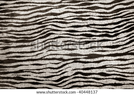 imitation zebra leather animal texture background in black and white - stock photo