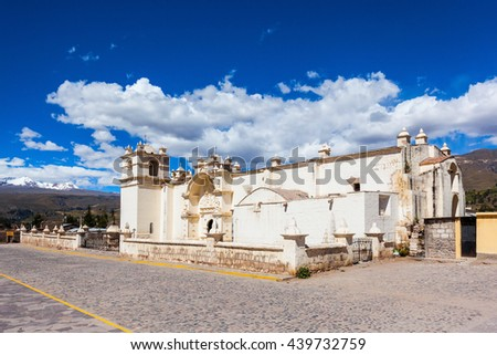 Immaculate Conception Church in Yanque, Peru - stock photo