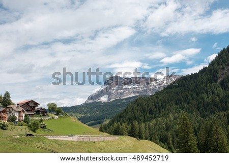 Immensity of the mountain panoramas - Dolomites