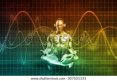 Immersive Music Experience and Performance as a Concept - stock photo