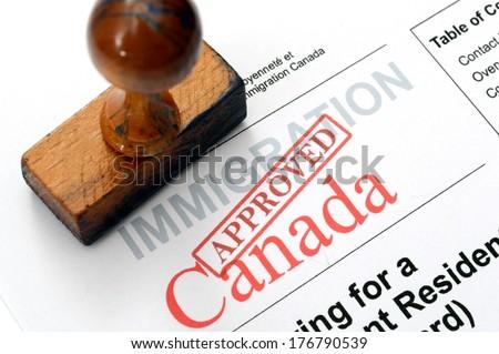 Immigration Canada - stock photo