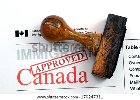 Immigration Canada - approved - stock photo