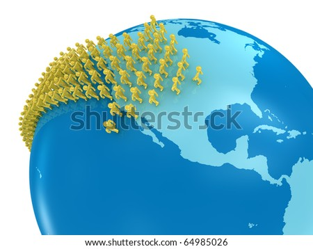 Immigration from Asia to USA - stock photo