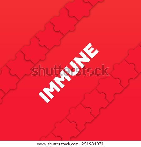IMMUNE - stock photo