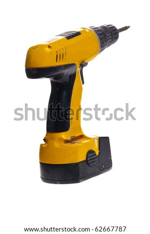Impact driver isolated on white - stock photo