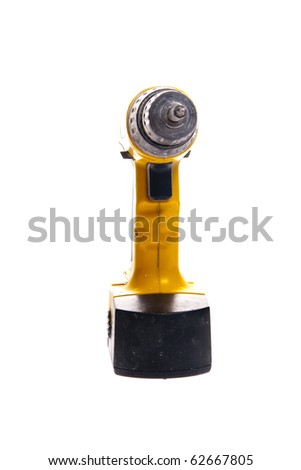 Impact driver isolated on white
