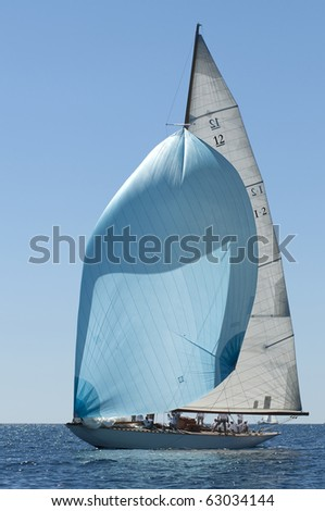 IMPERIA, ITALY - SEPT 11:Ancient sailing boat before a regatta at the Panerai Classic Yachts Challenge on Sept 11, 2010 in Imperia, Italy. The event starts from 8-12 Sept, 2010.