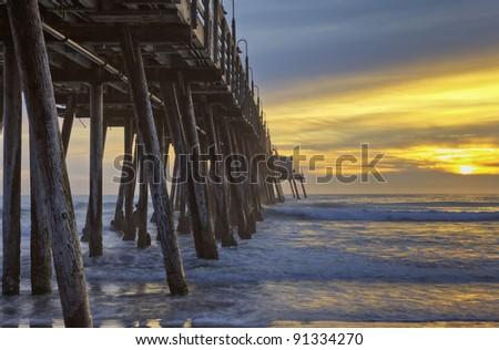 Imperial Beach Pier - stock photo