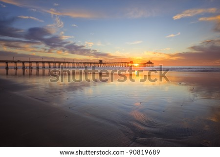 Imperial Beach Sunset - stock photo