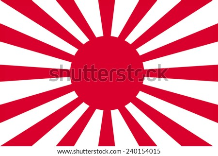 Imperial Japanes Army flag pattern - stock photo