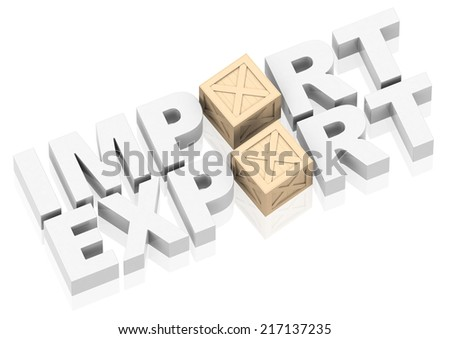 import and export - stock photo