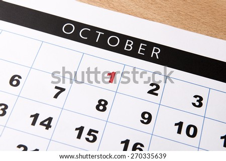 Important date of calendar with red color - stock photo