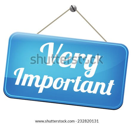 important information very crucial message essential and critical info pay attention high priority  - stock photo