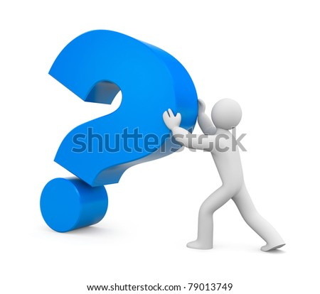 Important question - stock photo