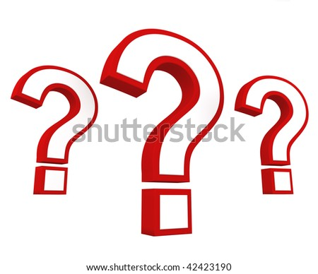 Important question. Concept of 3D question marks depicting problems, questions, FAQs and Q&A