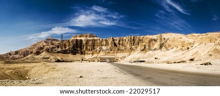 Important Theban religious and funerary site on the west bank of the Nile - stock photo