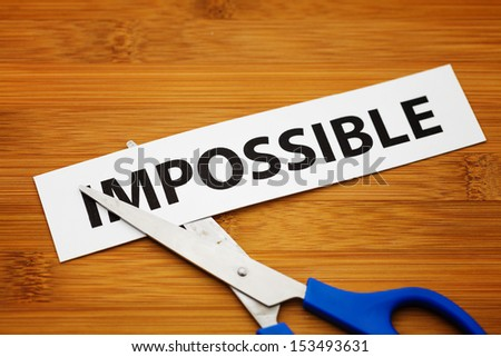 Impossible becomes possible - stock photo