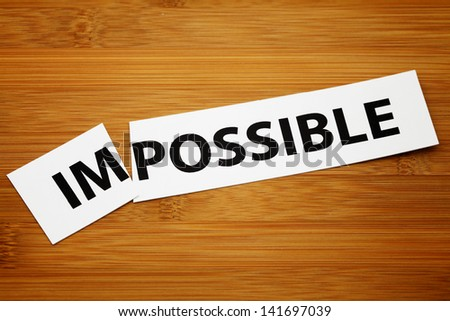 Impossible change to possible - stock photo