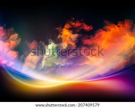 Impossible Dawn series. Composition of colors and gradients with metaphorical relationship to art, creativity, imagination and design - stock photo