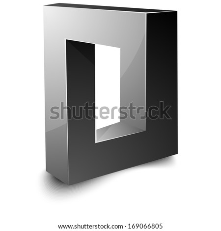 Impossible sign - stock photo