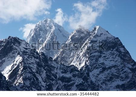 Impregnable summits, Himalaya, Nepal - stock photo