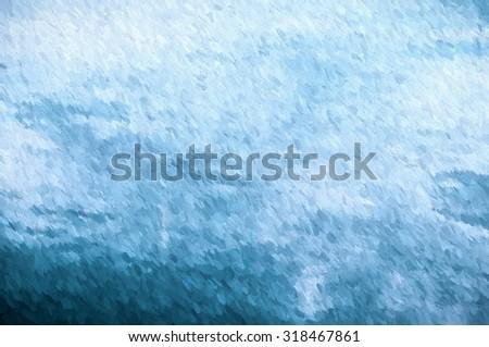 impressionism blue  - illustration based on own photo image - stock photo