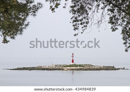 Impressions and details in Porec - an idyllic Croatian town which lies on a peninsula - stock photo