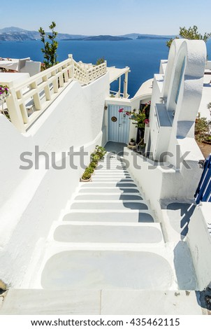 Impressions from Santorin, Island in Greece, Europe