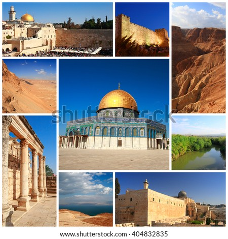 Impressions of Israel, Collage of Travel Images - stock photo