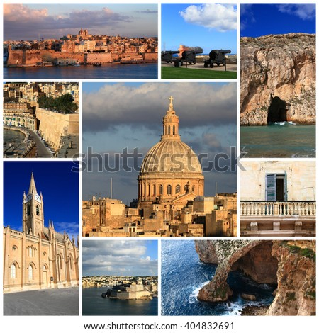 Impressions of Malta, Collage of Travel Images