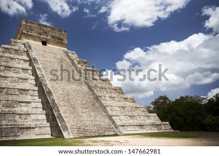 impressive Mayan arts and architecture in Mexico - stock photo