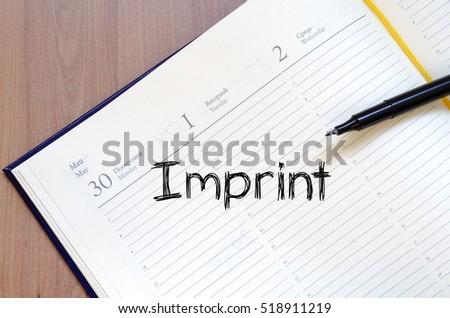 Imprint text concept write on notebook