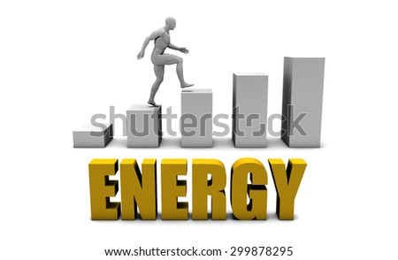 Improve Your Energy  or Business Process as Concept - stock photo