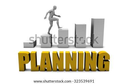 Improve Your Planning  or Business Process as Concept - stock photo