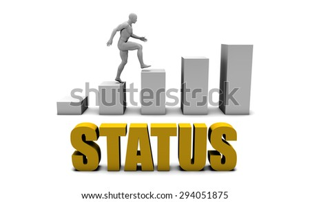 Improve Your Status  or Business Process as Concept - stock photo
