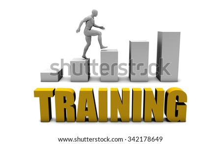 Improve Your Training  or Business Process as Concept - stock photo
