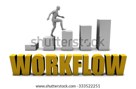 Improve Your Workflow  or Business Process as Concept - stock photo