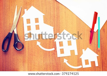 Improvement of living conditions. Abstract image with paper scrapbooking
