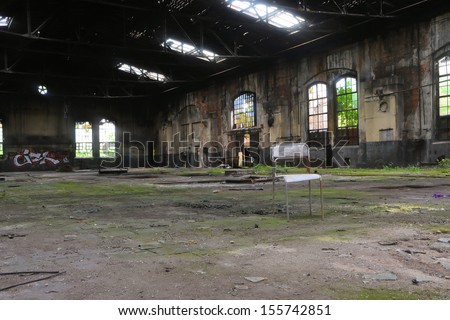 in a disused factory in Magdeburg - stock photo