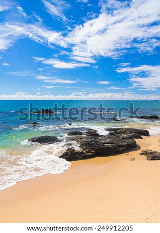 In a Sunny Paradise Vacation Wallpaper  - stock photo