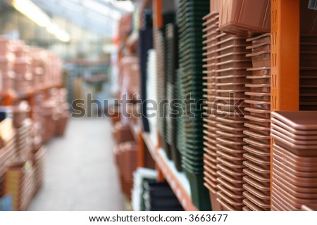 in a warehouse - stock photo