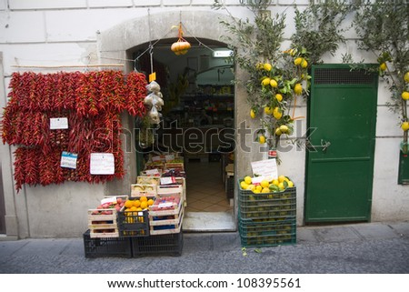 In Amalfi, a town in the province of Salerno, Campania, Italy - stock photo