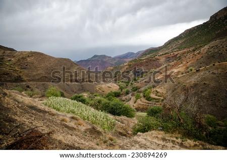 In Atlas mountains. Morocco - stock photo