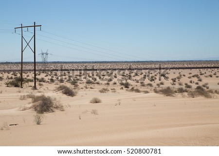 In California and Arizona the border to Mexico is walled off by a large patrolled fence stretching through the desert keeping Mexicans out of America