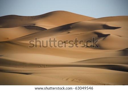 In der W�¼ste, Marokko, Sahara - stock photo